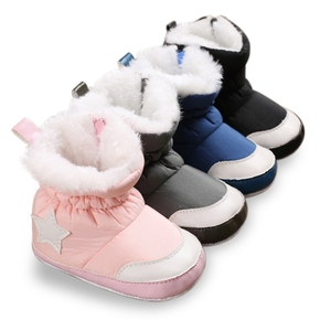 Baby / Toddler Solid Fleece-lining Stars Print Thermal Casual Prewalker Shoes