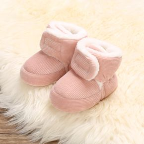 Baby / Toddler Solid Fleece-lining Pinstriped Thermal Casual Prewalker Shoes