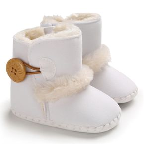 Baby / Toddler Fleece-lining Button Snow Boots
