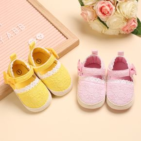 Baby / Toddler Solid Bowknot Velcro Closure Prewalker Shoes