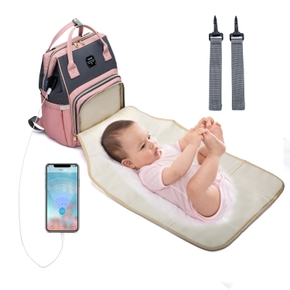 Multicolorful Diaper Bag Backpack Large Capacity, Durable Maternity Travel Backpack for Baby Care with Changing Pads