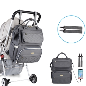 Multicolorful Diaper Bag Backpack Large Capacity Durable Maternity Travel Backpack for Baby Care with Changing Pads