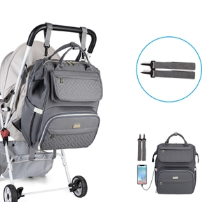 Multicolorful Diaper Bag Backpack Mummy Travel Bag Large Capacity Maternity Bags with Stroller Strap