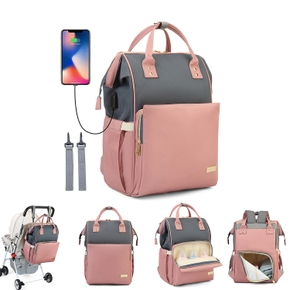 Mommy Bag Charging USB Backpack Multi-function And Large-capacity Portable Mother-baby Bag For Babies Going Out