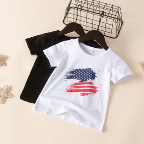 Baby / Toddler Independence Day US Flag Print Tee