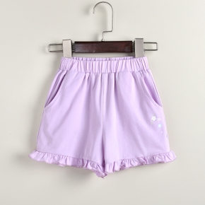 Baby Girl Sweet Solid Shorts