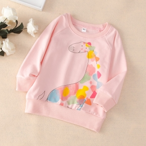 Baby / Toddler Girl Animal Giraffe Colorful Pattern Pullover