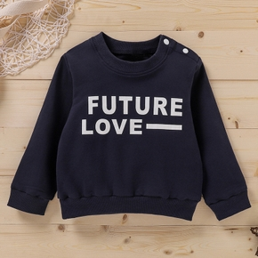 Baby Boy casual Letter Long-sleeve Cotton  Pullovers & Hoodies