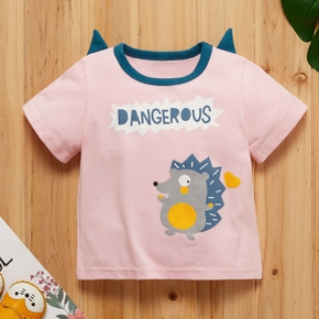 Baby Girl casual Short-sleeve Cotton Hedgehog Tee