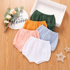 100% Cotton Solid Color Crepe Fabric Baby Shorts