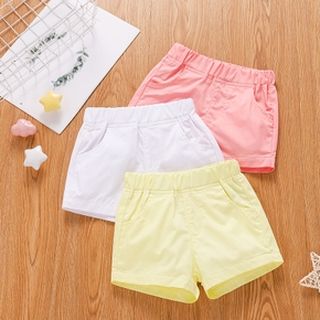 100% Cotton Solid Color Baby Shorts