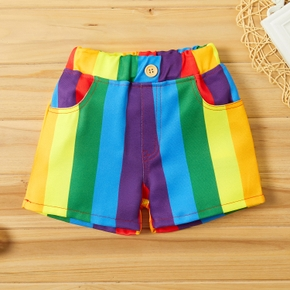 Baby Girl casual Rainbow Shorts