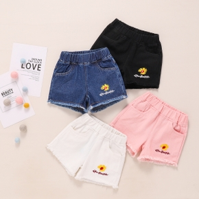 Baby Girl casual Shorts Solid Sunflower Cotton Print Baby Pants