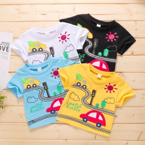 1pc Baby Short-sleeve Casual Cars Tee