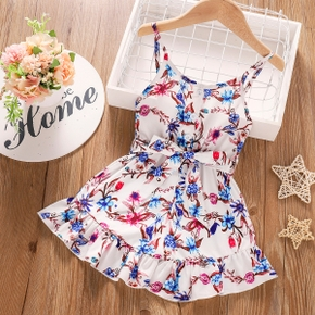Baby / Toddler Floral Bowknot Jumpsuit
