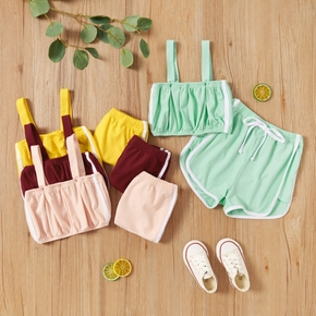 2-piece Toddler Girl Casual Sporty Camisole and Shorts Set