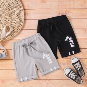 Toddler Boy Letter Solid Sporty Shorts