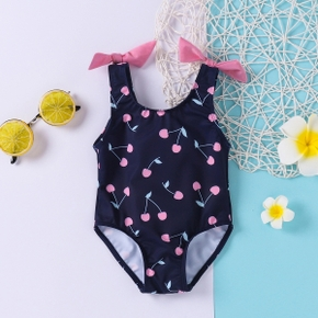Baby Girl Cherry Bow Cute Swimsuit