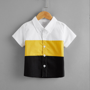 Toddler Boy Colorblock Short-sleeve Shirt