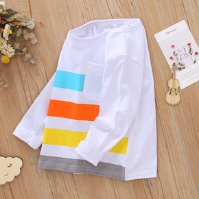 Toddler Boy Colorblock Striped Casual Long-sleeve T-shirt