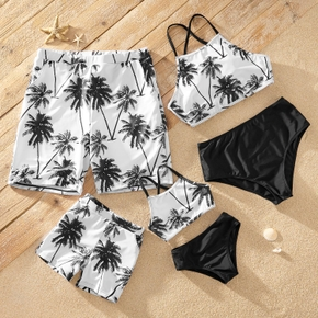 Coconut Tree Family Matching Swimsuits