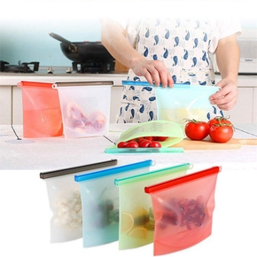 Reusable Silicone Food Storage Bags FDA approved BPA Free