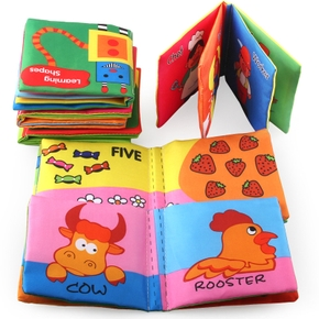 6-pcs Cloth Baby Book Intelligence Development Educational Toy Soft Cloth Learning Cognize Books For 6 Months