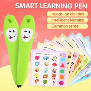 Voice Learning Book With Interactive Pen Educational Toys Kids Click Read Book Pen With 12pcs Card Learning Educational Toy with Electronic Pen