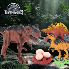 24 Pcs of Realistic Looking Dinosaurs Large Plastic Assorted Dinosaur Figures Jurassic