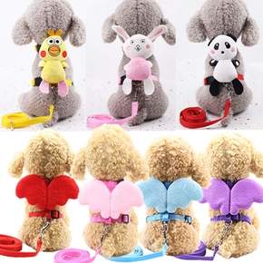 Pet angel chest traction rope with wings cartoon doll