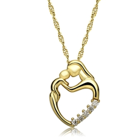 Mother's Day Silver Mother and Child Hands Love Heart Pendant Necklace Gifts
