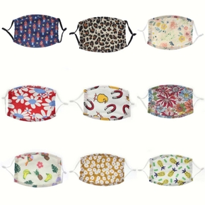 Cotton Children Reuseable Face Mask Kids washable Anti Dust Mask Recommended Age: between 2+ and 6+