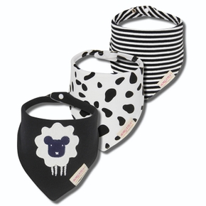 3 pcs Cotton Baby Drool Bib Super Absorbent Baby Bips Gifts