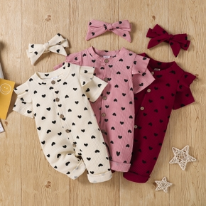 Baby Girl casual Heart-shaped Jumpsuits