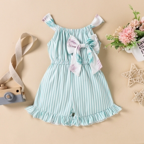Baby Girl Stripes straight Jumpsuits Bowknot Baby Clothes