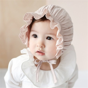 Baby Solid Ruffled Sunproof Hat