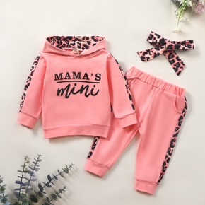 3pcs Baby Girl Long-sleeve Cotton Hooded Sweet Baby's Sets