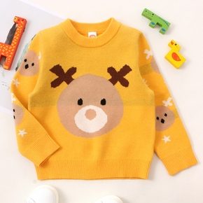 Baby / Toddler Bear Yellow Long-sleeve Sweater