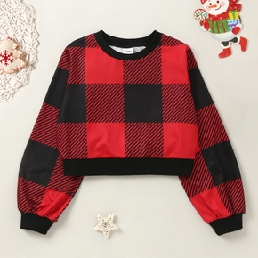 Girls Plaid Sweatshirt