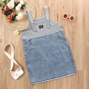 Kid Girl Denim Suspender Dress