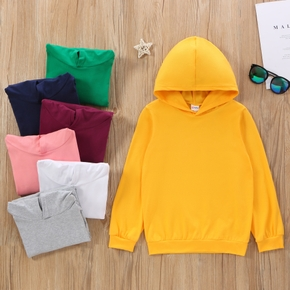 Fashionable Kid Boy/Kid Girl Basic Hooded Sweatshirt