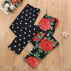 Kid Girl Floral & Polka dots Leggings