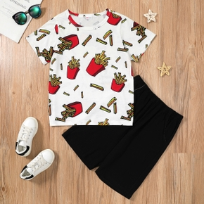 Fashionable Kid Boy Fries Print Set