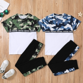 Kid Boy Camouflage Sweatshirt & Pants Set