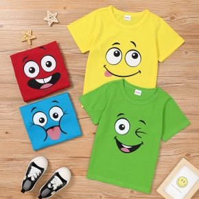 Stylish Kid Boy/Girl Facial Design T-shirt