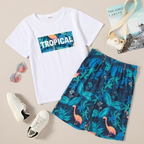 Trendy Kid Boy Tropical Casual Suits