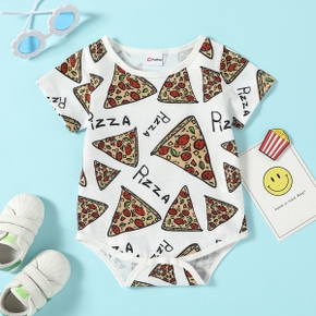 1pc Baby Unisex casual Food&Letter Rompers & Bodysuits