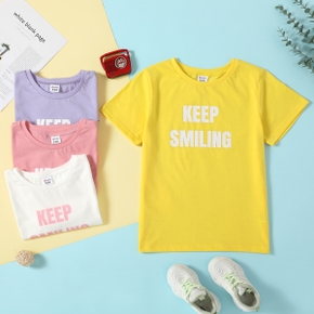 Fashionable Kid Girl Letter Print T-shirt
