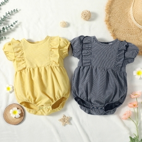 1pc Baby Girl Short-sleeve Cotton Sweet Rompers & Bodysuits