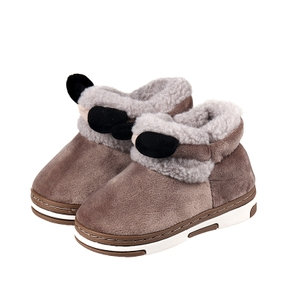 Toddler Animal Ear Decor Solid Fluffy Snow Boots